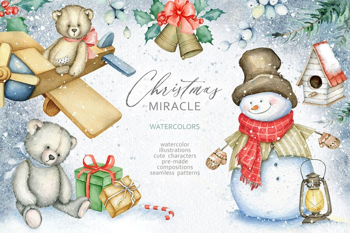 Christmas Miracle Watercolors