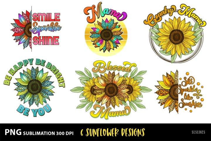 Sunflower Sublimation Designs MiniBundle with Leopard Print