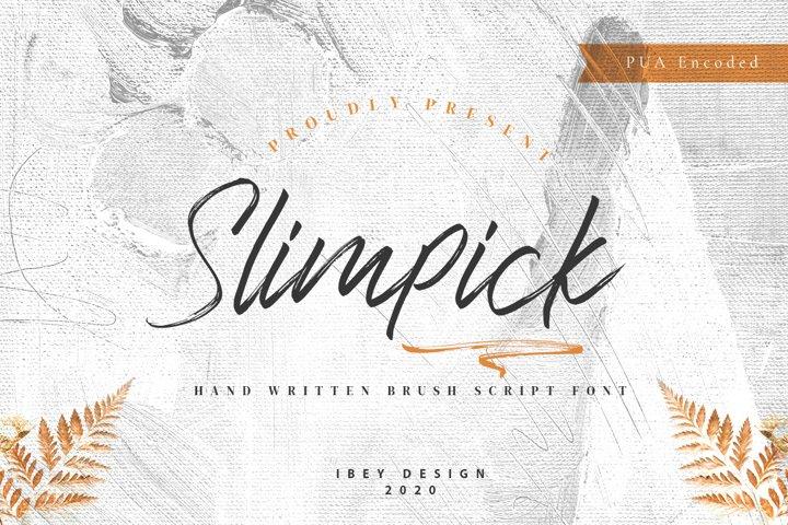 Slimpick - Brush Font with Swash