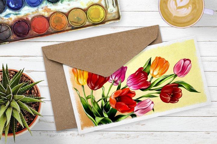 Tulips digital painting example 2