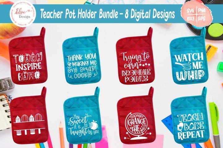 Teacher Pot Holder Bundle SVG Cut Files