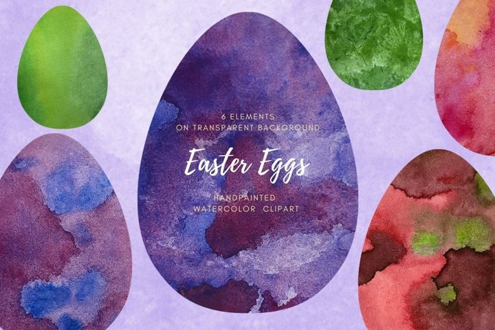 Set Easter eggs with different space texture. Spring Holiday