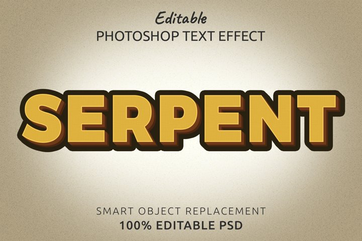 Serpent Editable Photoshop Text Style Effect