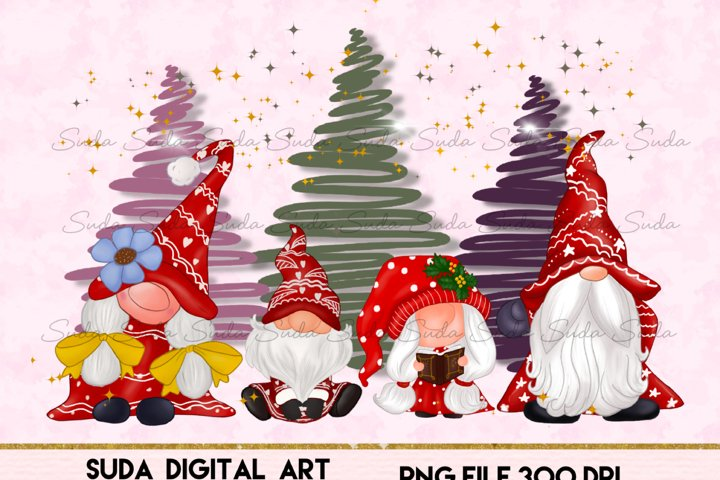 Cute Family Gnomes Christmas Sublimation
