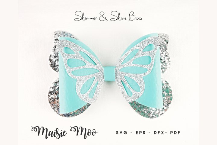 Butterfly Bow Template SVG, Bow SVG,Faux Leather Bow