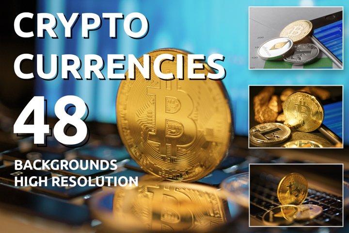 Golden Bitcoin Coin JPG set example
