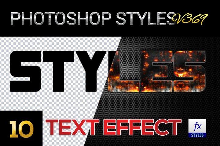 10 creative Unique Photoshop Styles V369