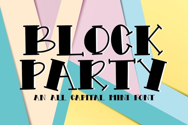 Block Party - An All Caps Mini Font