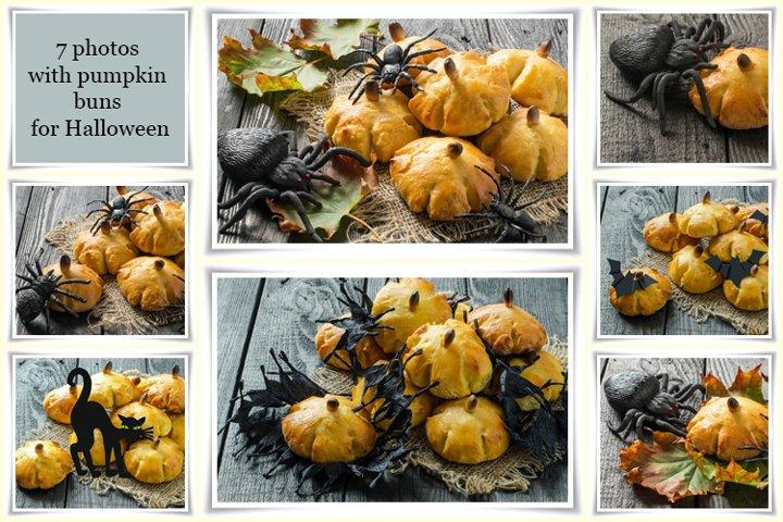 Pumpkin buns for Halloween