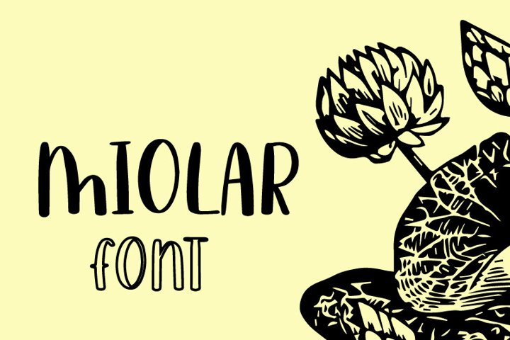 Miolar Quirky typeface
