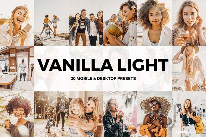20 Vanilla Light Lightroom Presets and LUTs