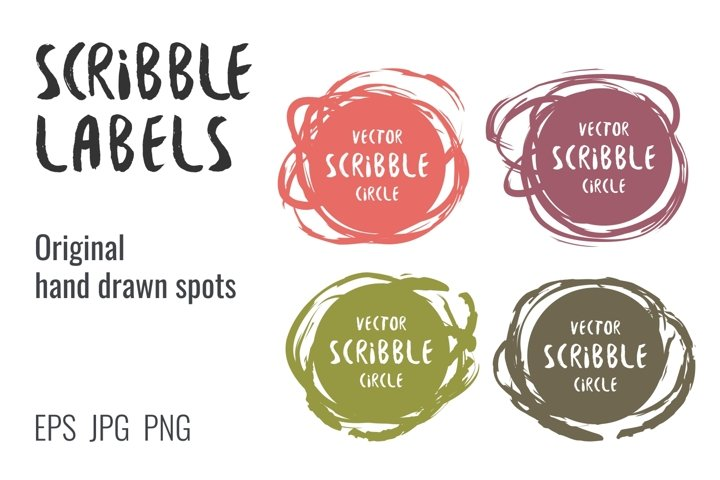Scribble hand drawn labels