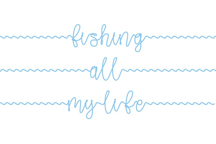 Gone Fishing - a fishing line font - Free Font Of The Week Design1