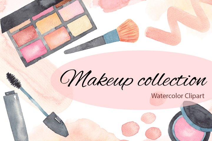 Makeup Collection Watercolor Clipart