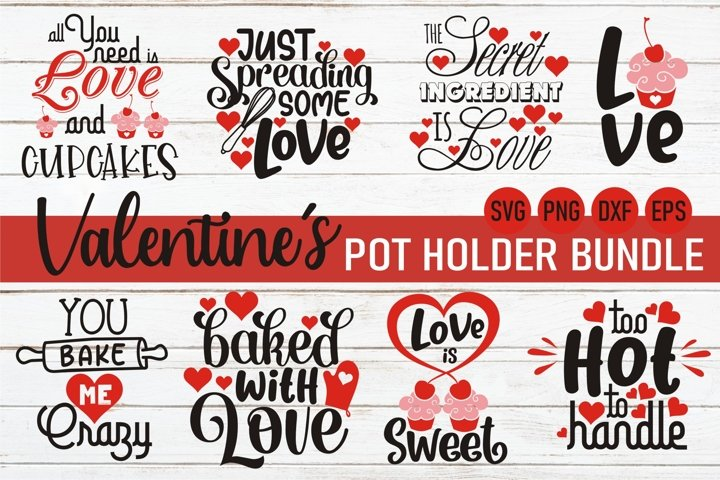 Valentine svg bundle |Valentine pot holder svg