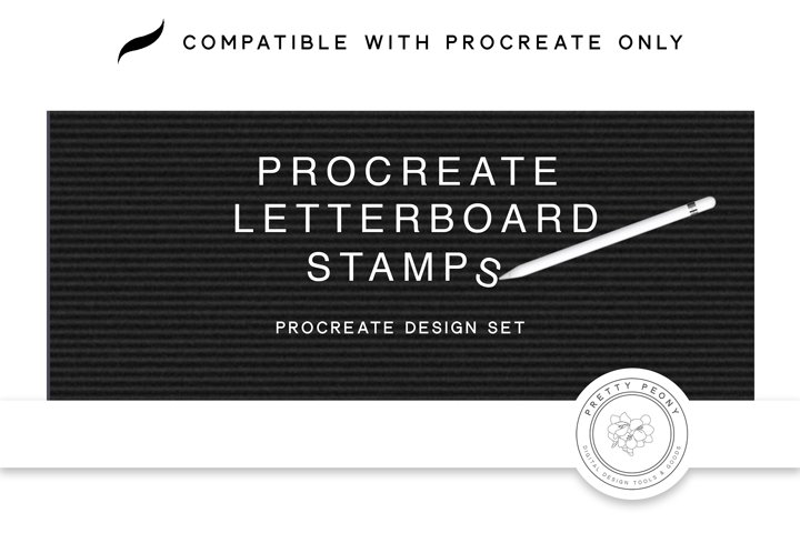 Procreate Letter Board Stamps