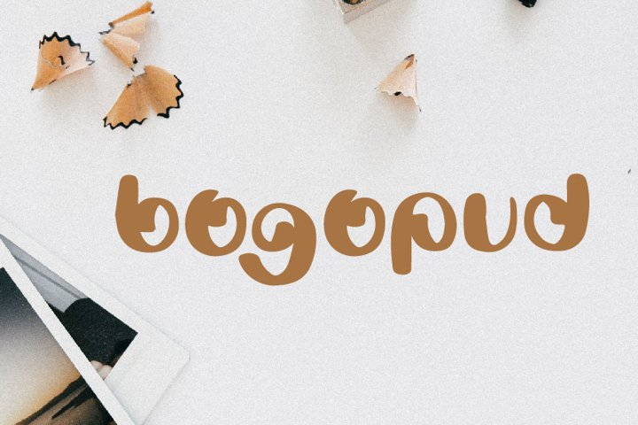 Bogopud - Fun and Quirky Font