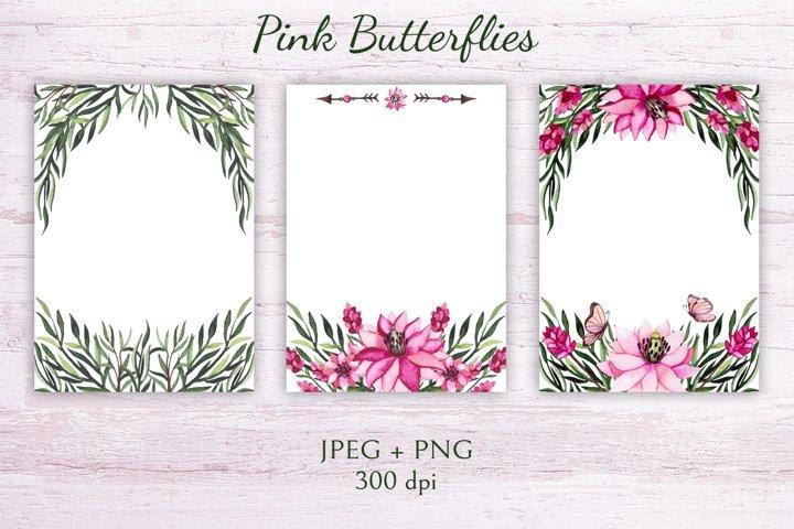 Pink Butterflies example 3