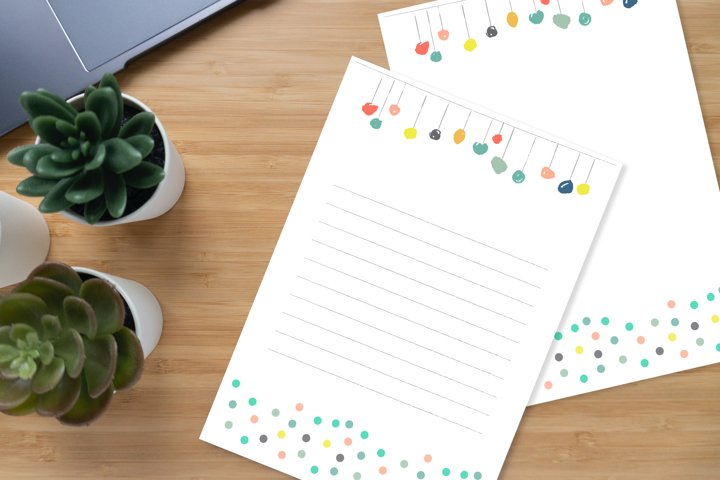 Cute Stationery Paper, A4, Printable, Writing Paper