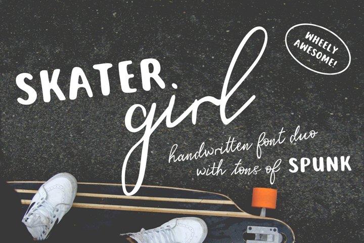 Skater Girl Font Duo