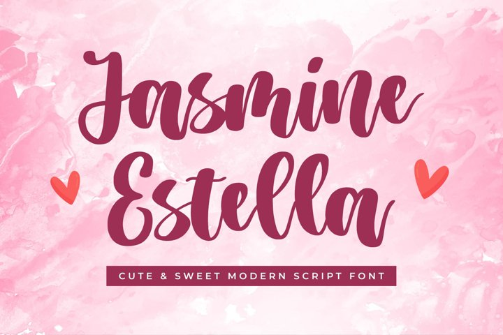Cute Script Font - Jasmine Estella