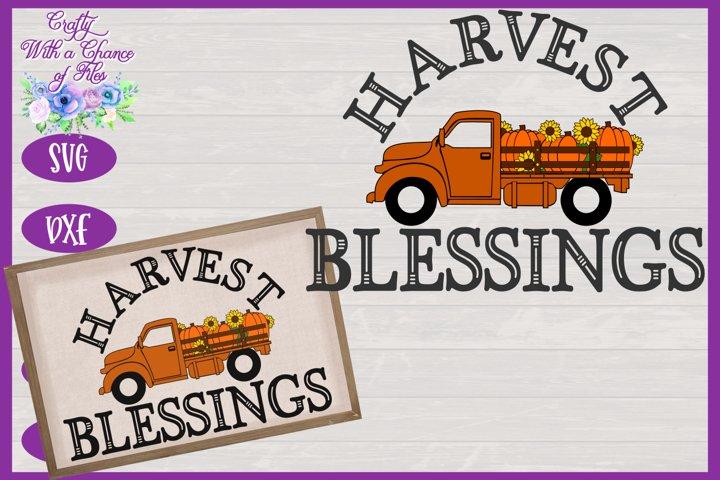 Harvest Blessings SVG | Pumpkin Truck SVG | Farm Truck SVG