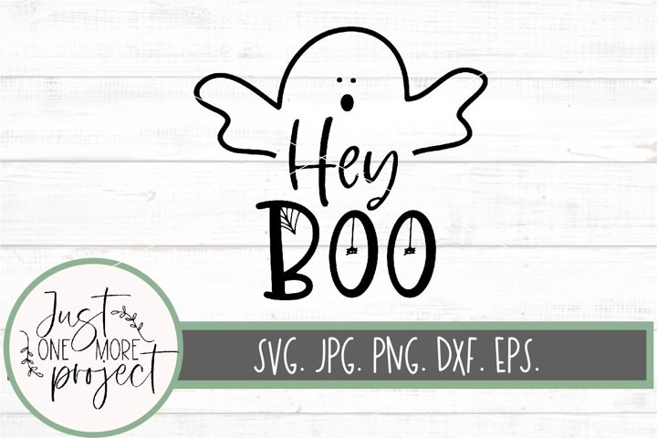 Hey Boo svg, Ghost svg, Cute ghost svg, Cute halloween svg,