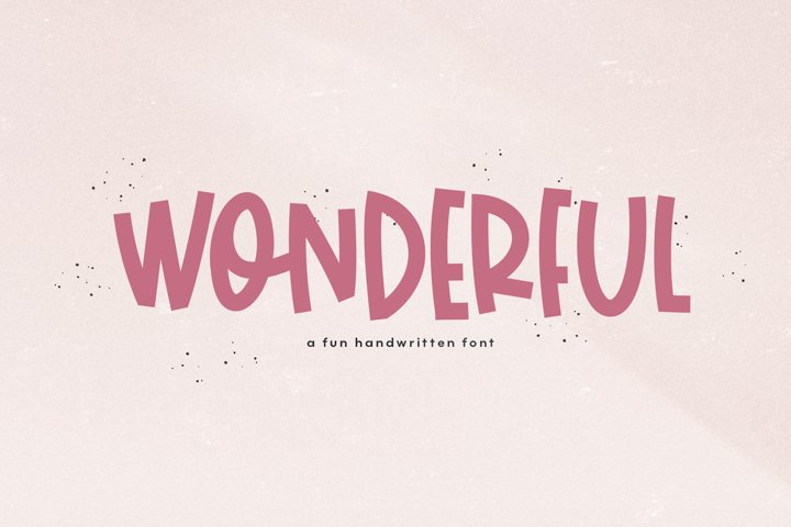 Wonderful - A Bold Handwritten Font