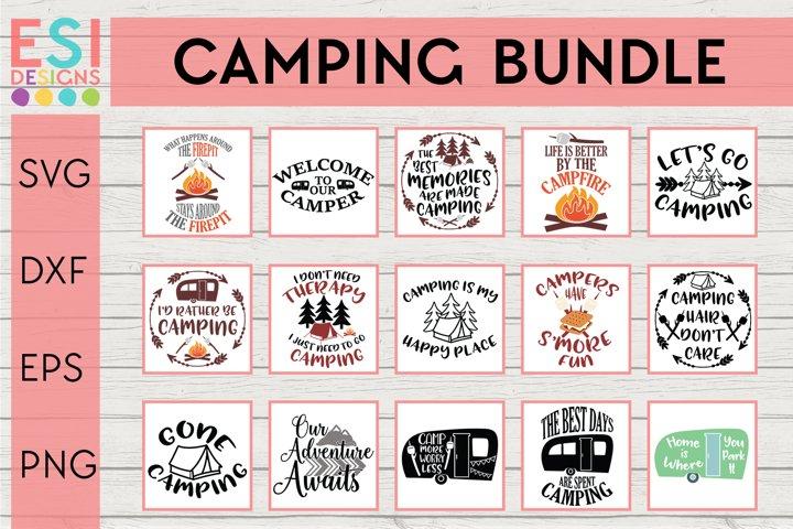 Camping Bundle SVG |SVG, DXF, EPS, PNG