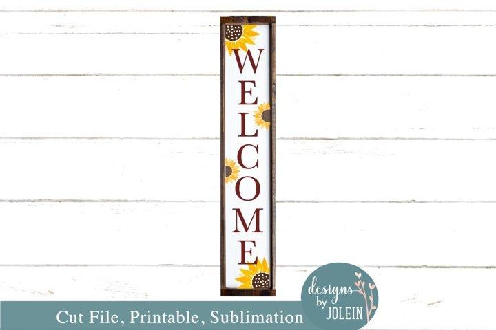 Sunflower Welcome Porch SVG, Sublimation, Printable, Cricut