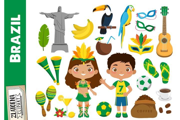 Brazil clip art Cinco de Mayo clipart Fiesta clipart FootBal