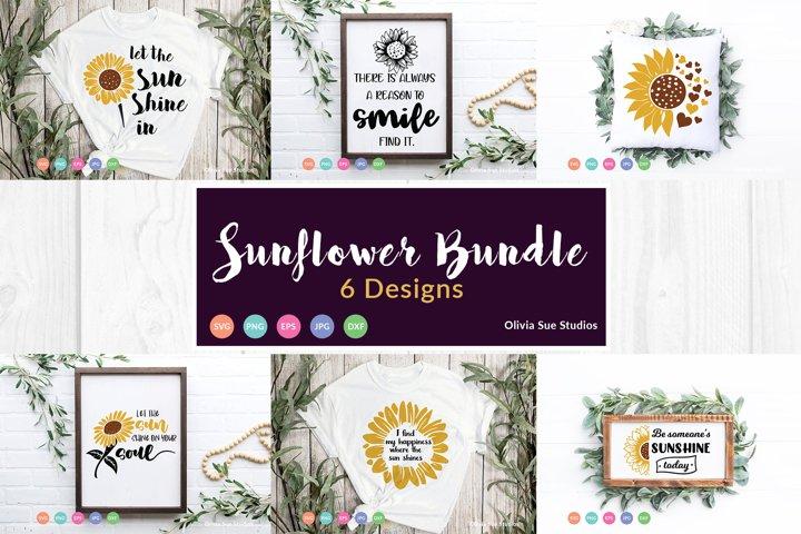 Sunflower SVG Bundle 6 Designs