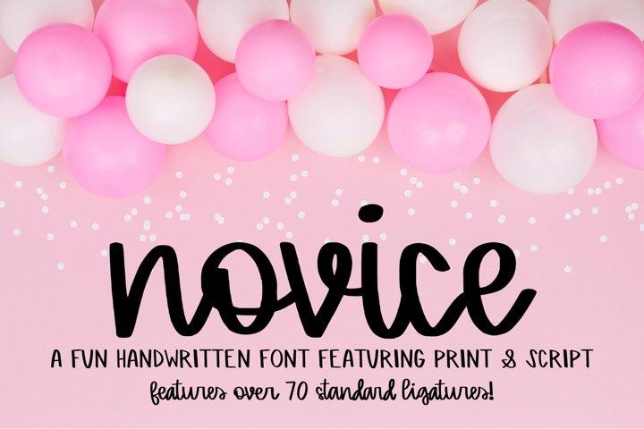 Novice - A Handwritten Script Font
