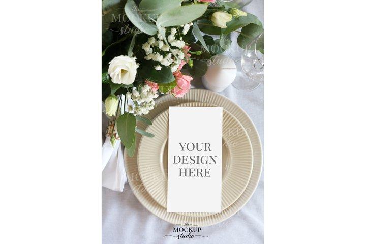 Menu Mockup, Wedding Menu Card Mockup, Stationary Mockup