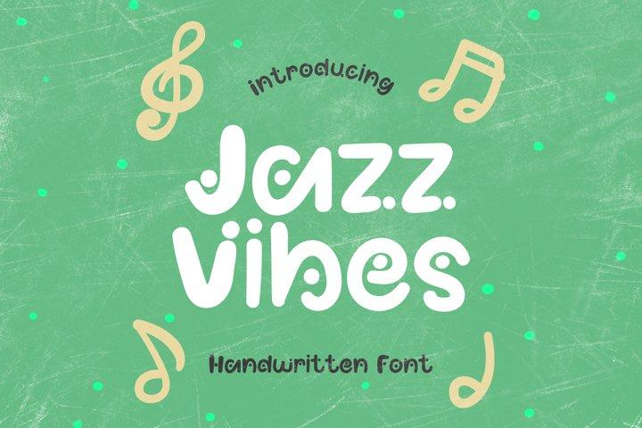 Jazz Vibes - A Fun Dotted Handwritten Font