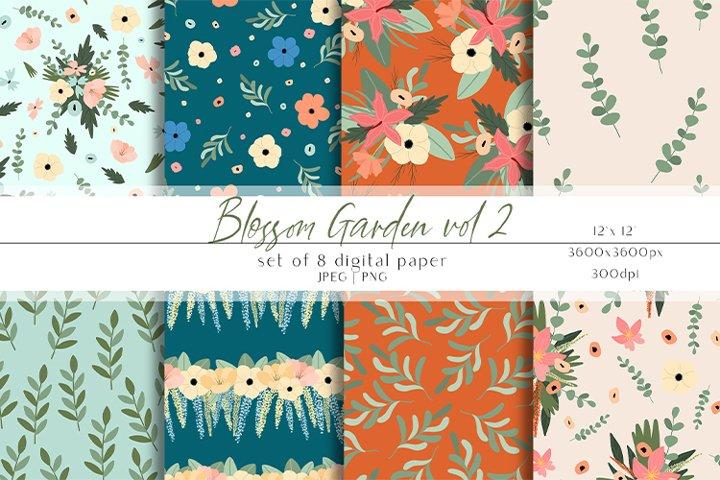 Spring Digital Paper Set - Summer Backgrounds