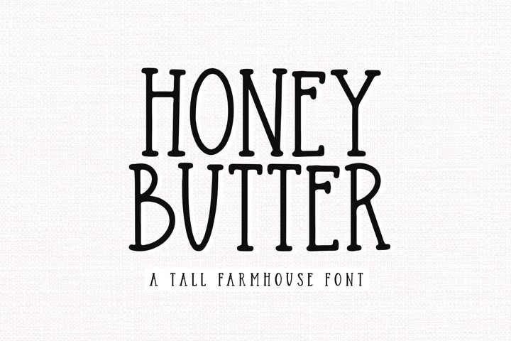 Honey Butter - A Farmhouse Font