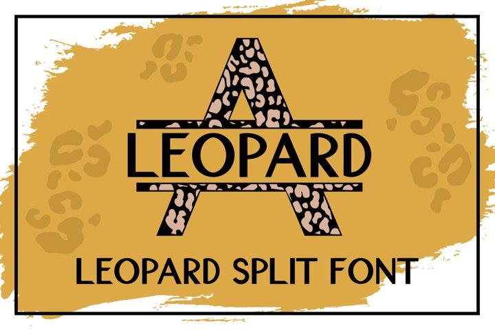 Leopard Split Font - A Monogram Font
