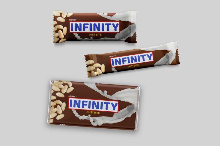 Chocolate Bars Packaging Mock-Up Set