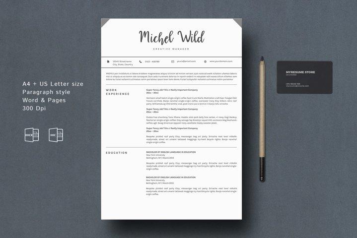 Professional Resume Template BONUS Portfolio