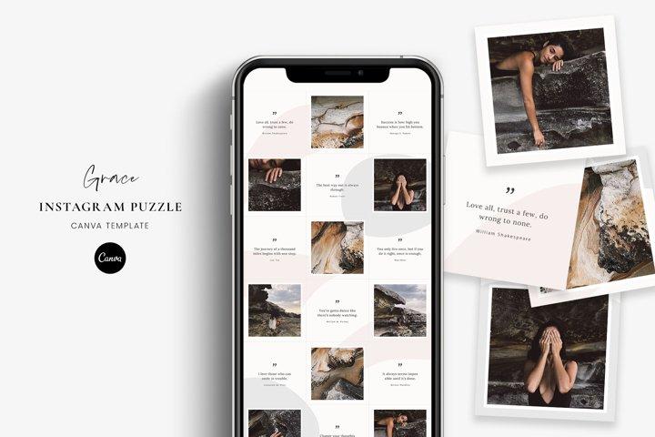 Grace - Instagram puzzle Canva template