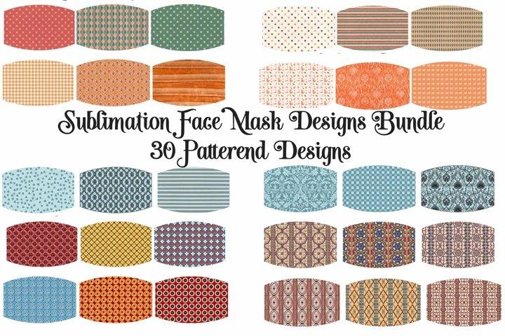 Sublimation Face Mask Designs Bundle Pattern Variety