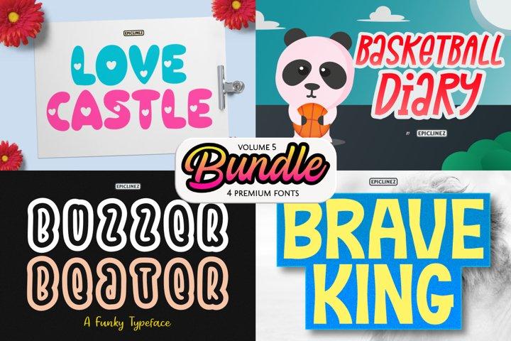 Epic Bundle Vol 5  4 Premium Fonts
