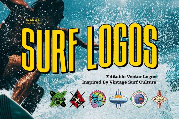 Retro Surf Logo Templates