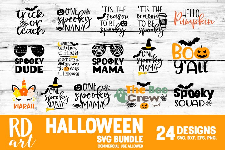 Halloween Bundle SVG, DXF, PNG, EPS Cut Files