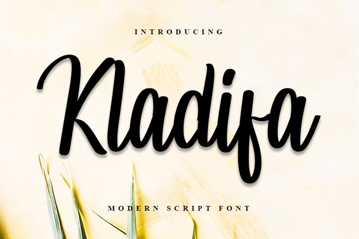 Kladifa - Modern Script Font