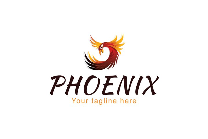 Phoenix - Mythical Fire Bird Stock Logo Template