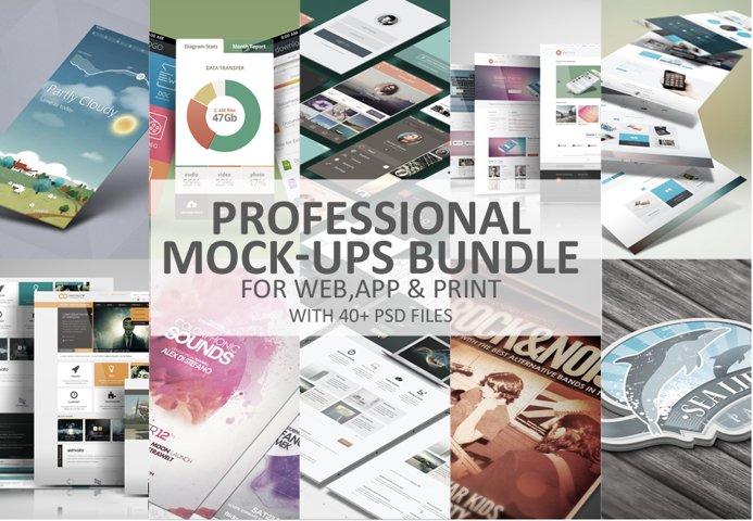 Professional Mock-Ups Bundle