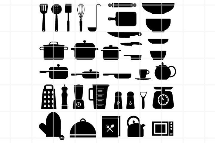 Kitchen SVG. kitchen utensils set for cut. cook cutting file