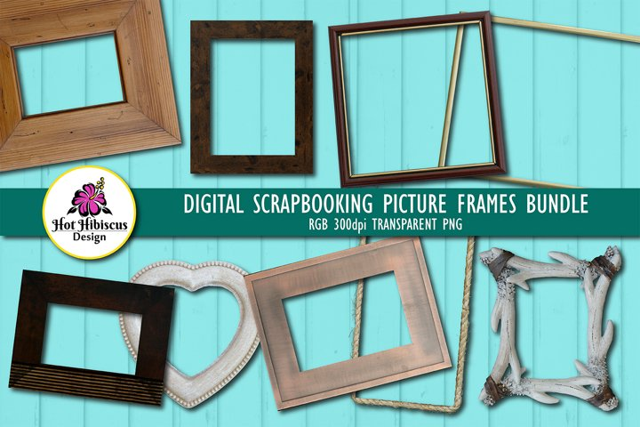 Scrapbooking Photo Frames | Transparent Picture Frames Pack